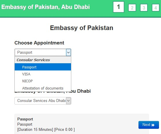Online Appointment at Pakistan Consulate Dubai - Propatel